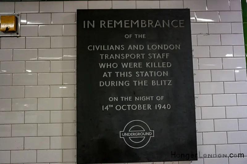 Balham station Remembrance