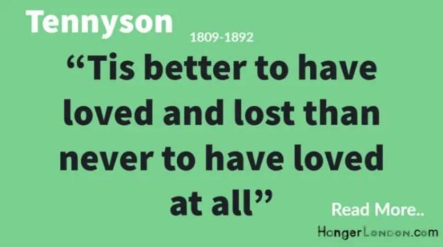 Tennyson arguably the greatest English Poet