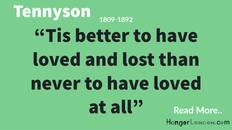 Tennyson arguably the greatest English Poet
