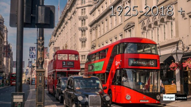 2nd October 1925 origin of the RED London Bus 1