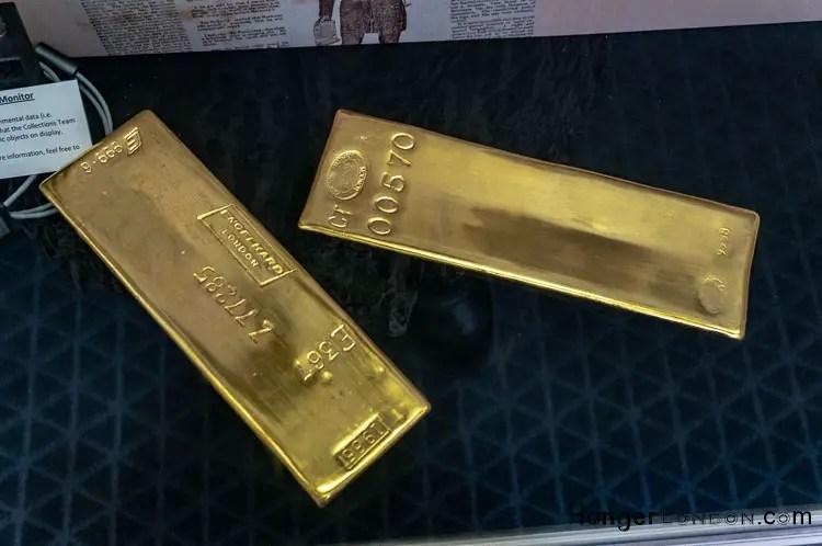 Gold bar Bank of England Museum