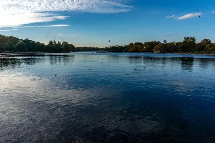 Hyde Park Autumn. The Serpentine