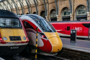 The new Azuma train next to the last king of high speed rail InterCity 125
