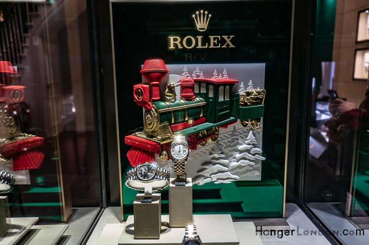 Royal Exchange Boutiques Rolex Christmas Watch display