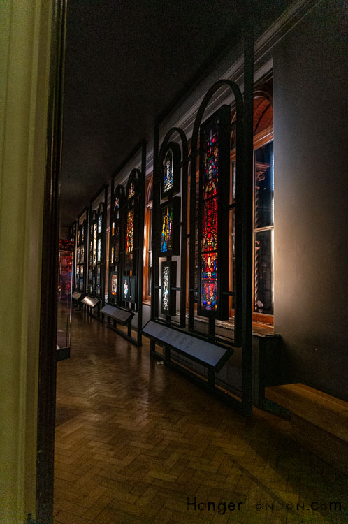Stained Glass Window Gallery in the Victoria and Albert Museum Late night opening