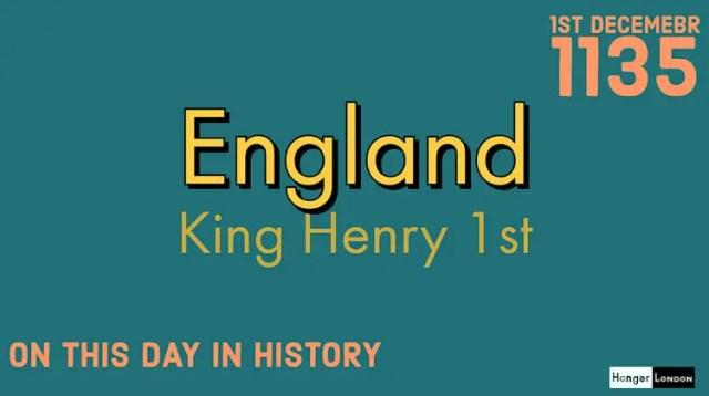 King Henry 1st