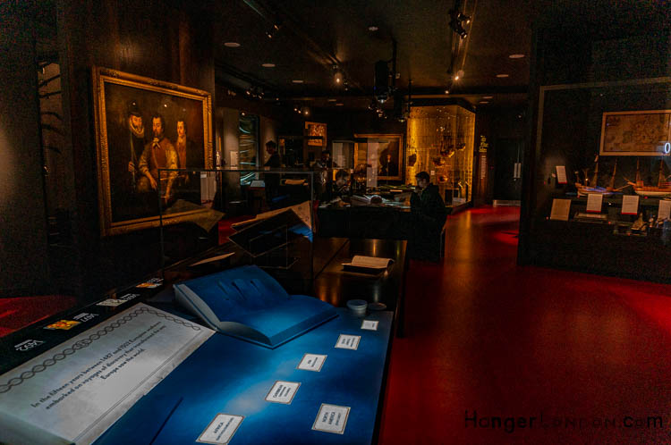 ambient lighting at the Tudor Gallery at the Maritime Museum