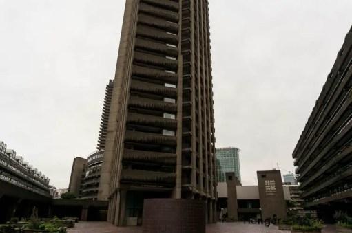Brutalist Barbican buildings
