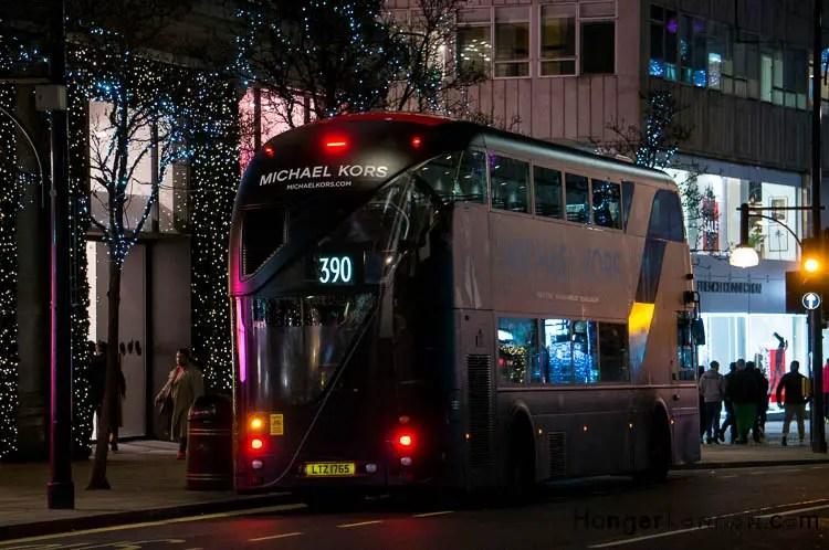 Michael Kors decorated Bus