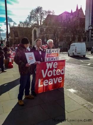 we voted leave brexit slogan westminster