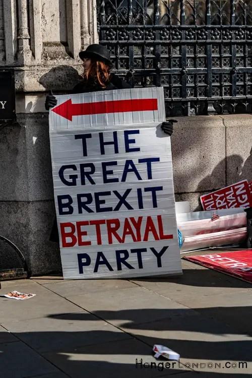 Betrayal Party Slogan Brexit