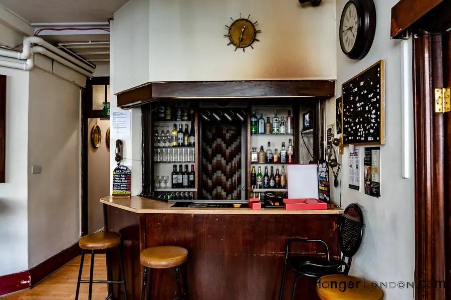 Bar area of the India club Lounge
