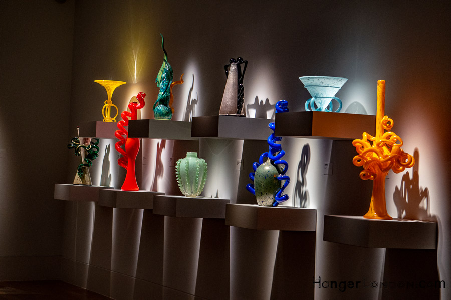 Chihuly wall of venetians glass art piece