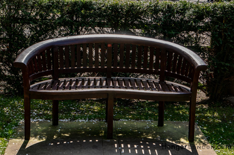 Curved back benches Japanese Garden