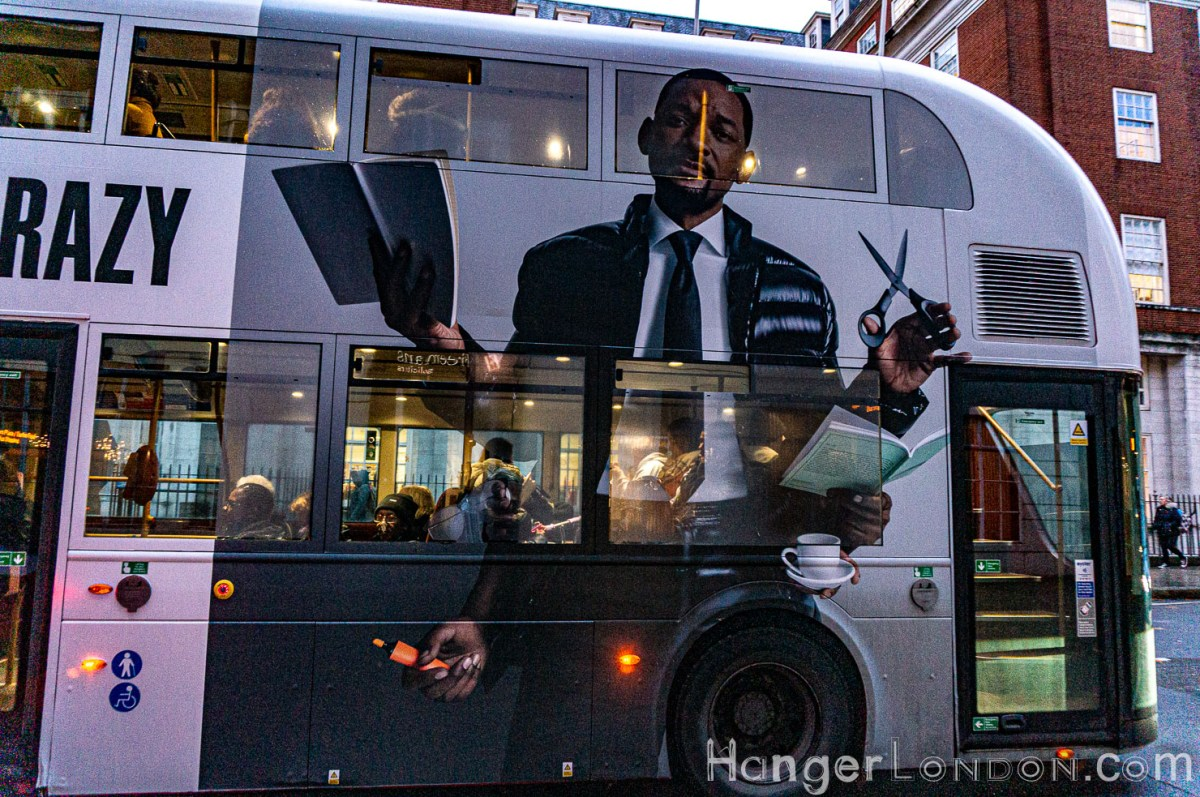 Full bodied Advert on a bus