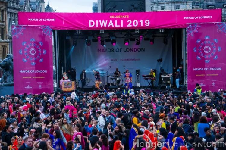 main statge at Diwali 2019 London