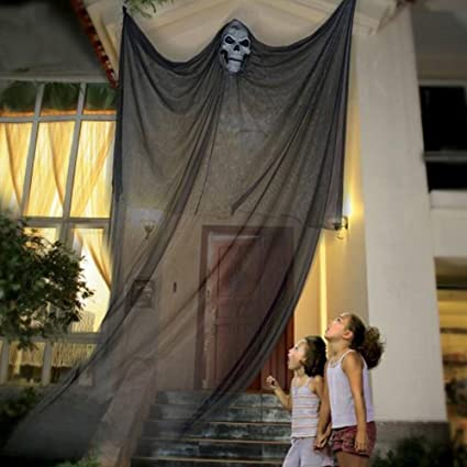 willkey Halloween Decoration Hanging Ghost Scary Witch Curtain for Outdoor Party Room Haunted House (black) 1