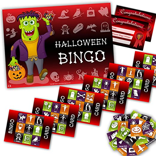 Halloween Party Game - HALLOWEEN BINGO - up to 20 players 1