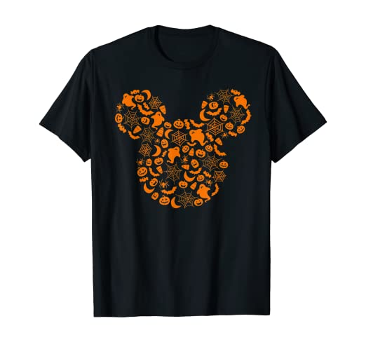 Disney Mickey Mouse Halloween Silhouette T-Shirt 1