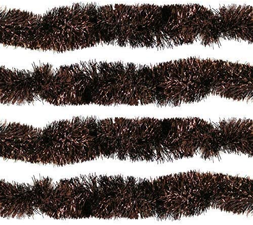 8m Copper Brown Christmas Tree Tinsel Decoration 1