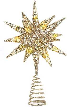 Christmas Tree Topper, Beautiful Bright Exploding Star 1