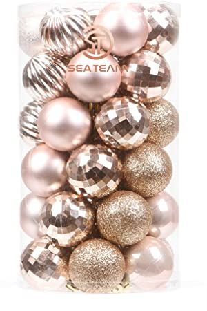41-Pack Christmas Ball Ornaments with Strings 40mm 1