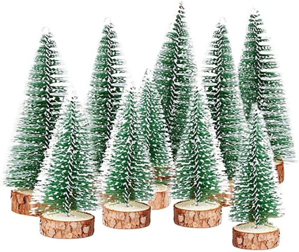 10 Pcs Artificial Frosted Sisal Trees 1