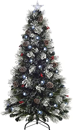 Pre-Lit Fibre Optic Multi-Function Christmas Tree with 5 ft 1