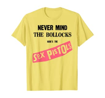 Sex Pistols Official Never Mind The Bollocks Yellow T-shirt 1