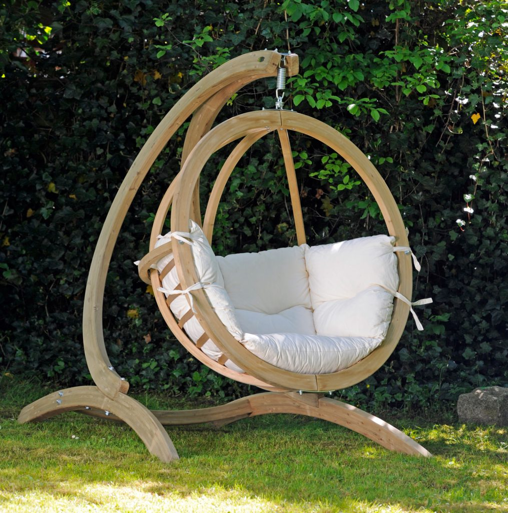 Review Hanging Globo Chair Wooden