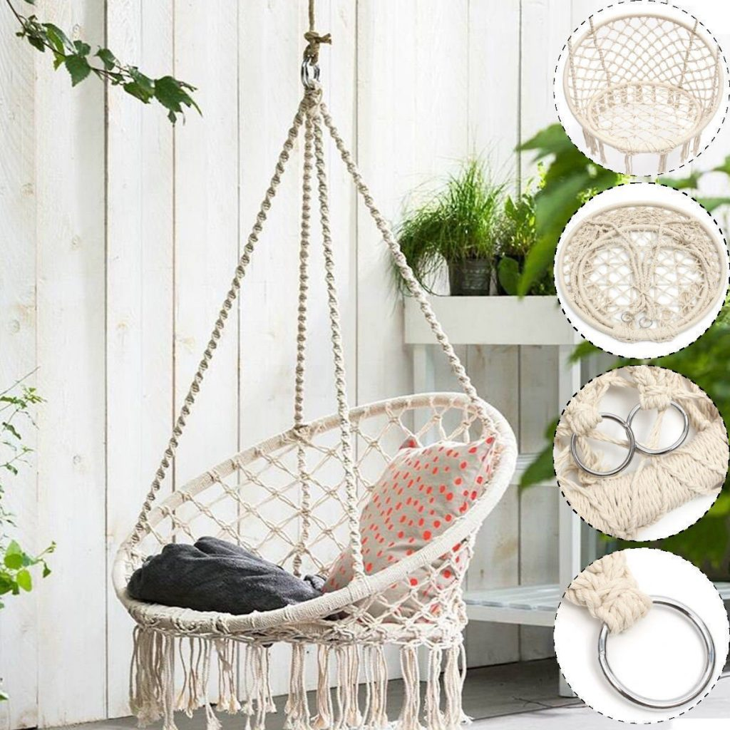 Review Macrame Hammock Swing Chair By Sorbus