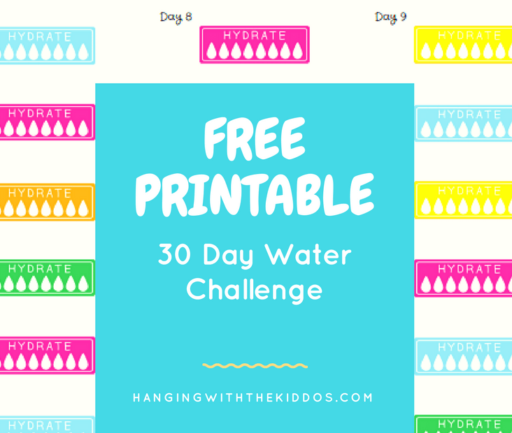 Free Printable Water Tracker | 30 Day Water Challenge
