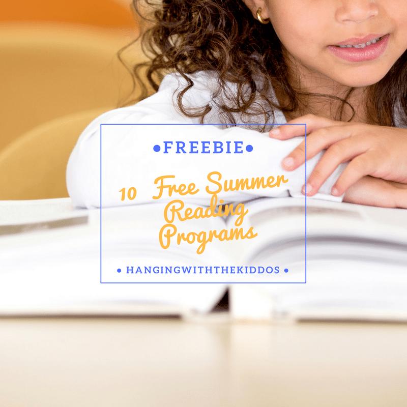 10  FREE Summer Reading Programs for kids-Free Reading Log Printable