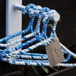 Turquoise and white hanger
