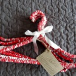 red and white hanger