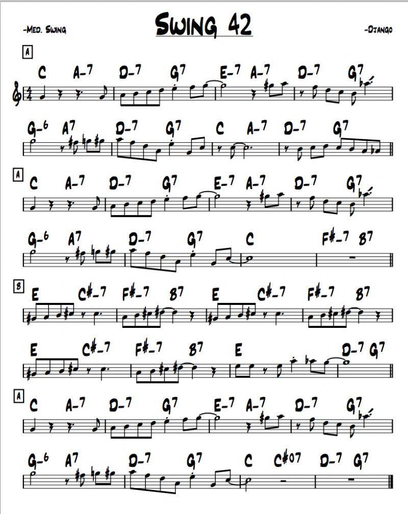 Simple Chord Progression Chart
