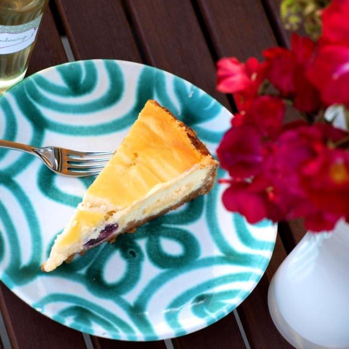 Cherry Cheesecake mit Holunderblüten-Curd