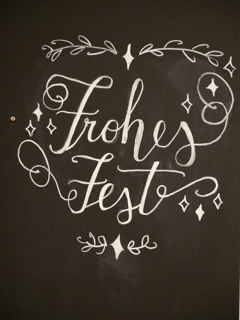 Hand lettering Frohes Fest
