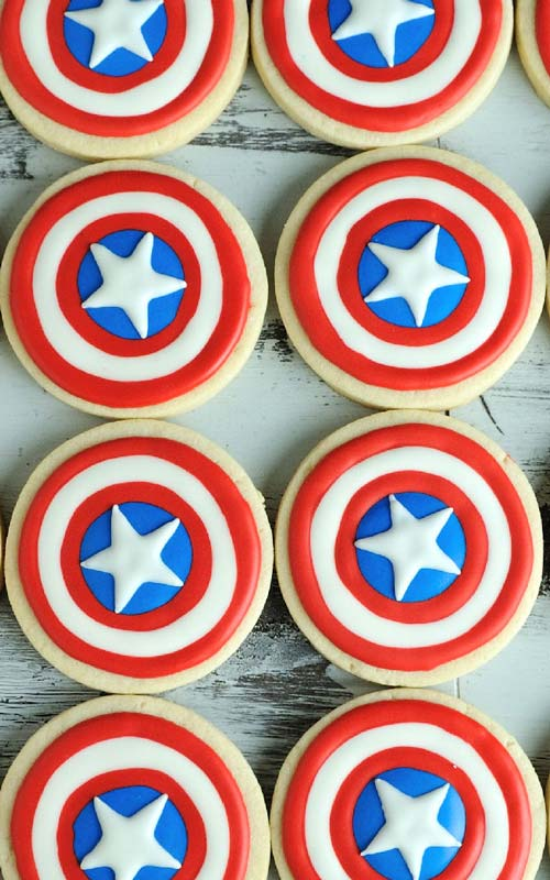 Memorial Day Special Captain America Shield Treats