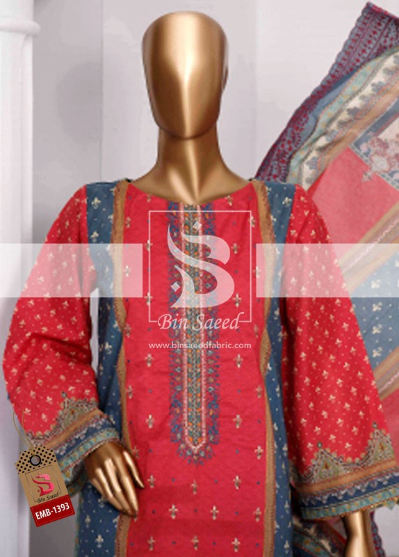 Summer Embroidered Lawn Collection Vol-1 EMB-1393 1