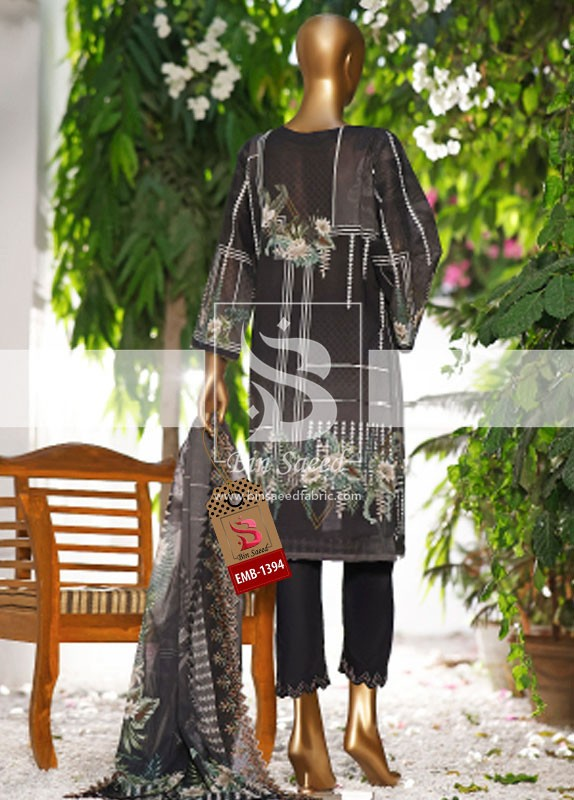 Summer Embroidered Lawn Collection Vol-1 EMB-1394 3