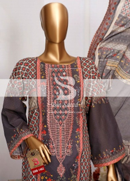Summer Embroidered Lawn Collection Vol-1 EMB-1402