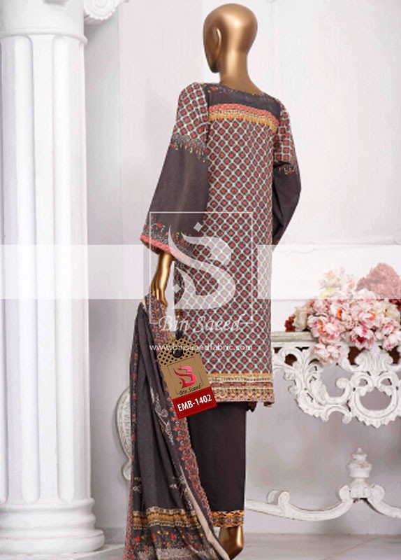 Summer Embroidered Lawn Collection Vol-1 EMB-1402 3