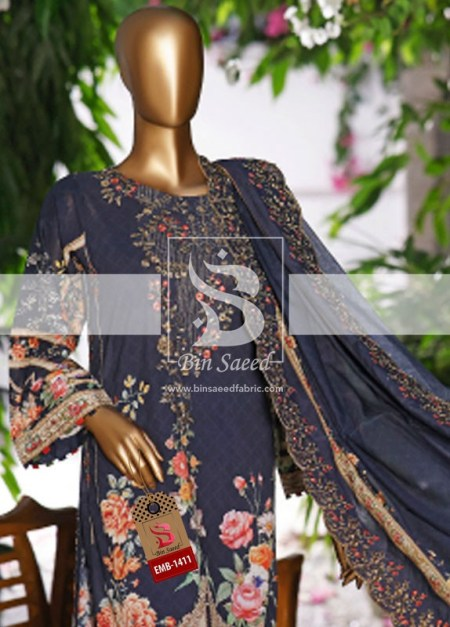 Summer Embroidered Lawn Collection Vol-1 EMB-1411