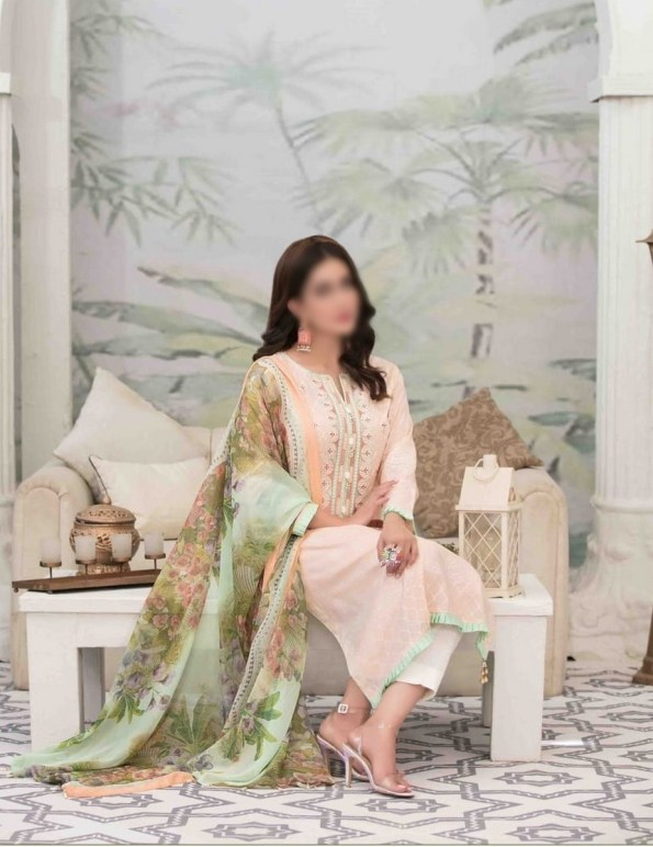 Summer Medley Lawn Printed And Embroidered Collection D-1472 B 2