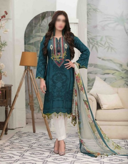 Summer Medley Lawn Printed And Embroidered Collection D-1474 B