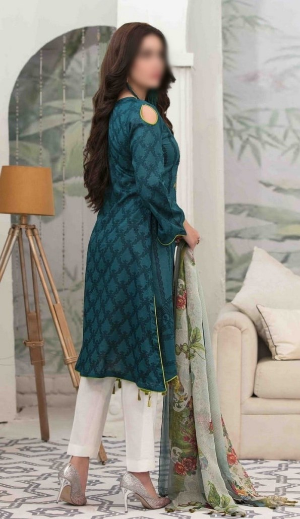 Summer Medley Lawn Printed And Embroidered Collection D-1474 B 3