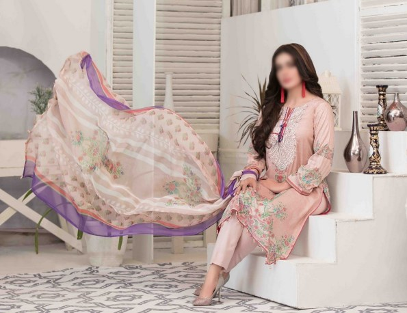 Summer Medley Lawn Printed And Embroidered Collection D-1475 B 3