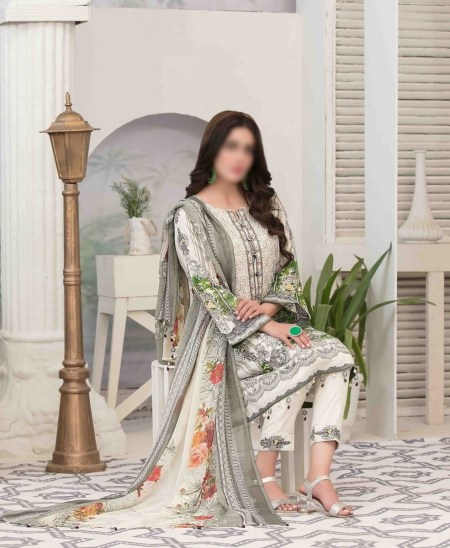 Summer Medley Lawn Printed And Embroidered Collection D-1476 A