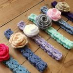 Pretty Flower Headbands by HanJan Crochet Hannah Cross crochet pattern
